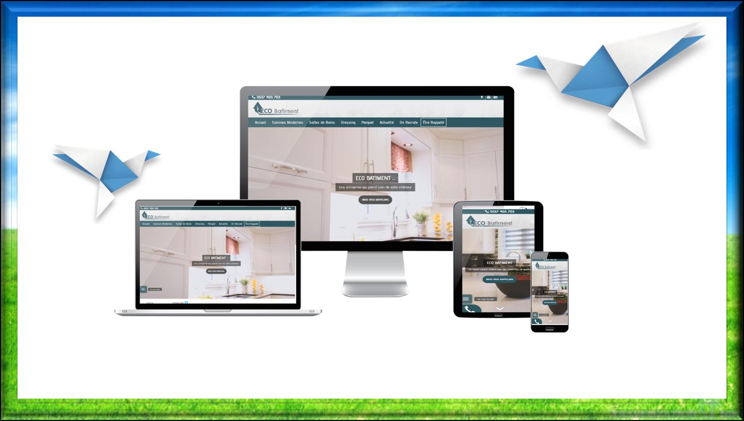 création site web ECOBATIMENT