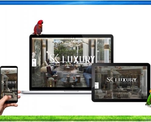 création site web skluxury maroc